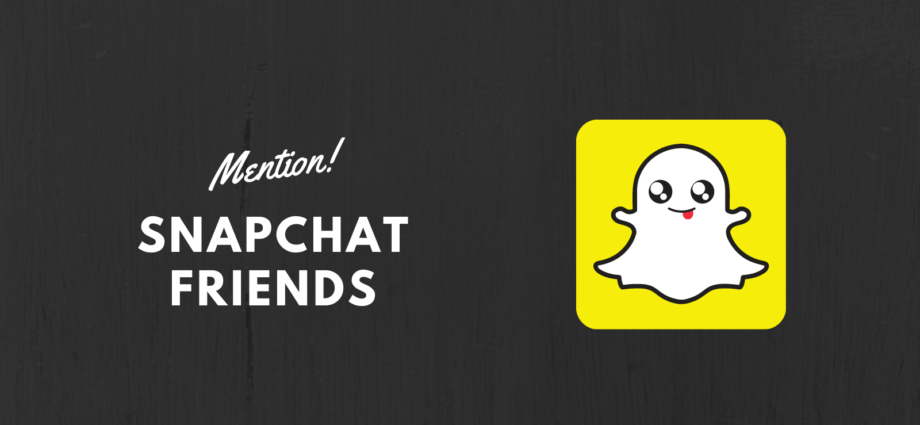 Mention Friends on Snapchat?