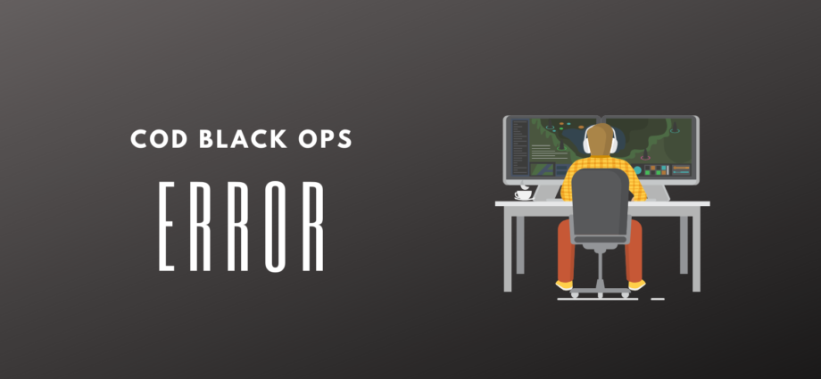 COD Black Ops Cold War 3107840166 Error